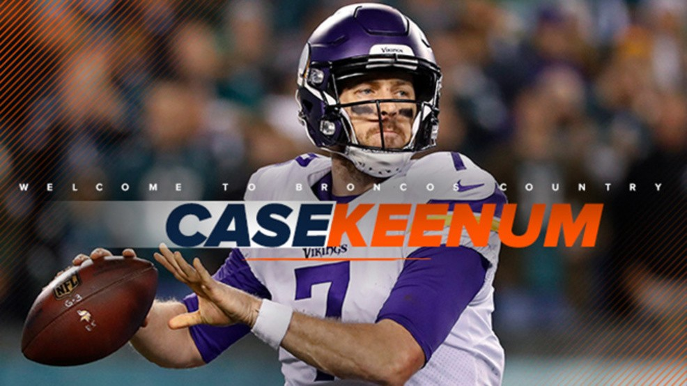 huge selection of 4d464 5281f It's official: Ex-Wylie QB Case Keenum signs with Denver ...